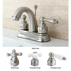 Satin Nickel Classic Double-handle Bathroom Faucet
