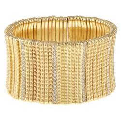 Celeste Goldtone Crystal Stretch Cuff Bracelet 7804960