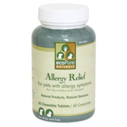 ecoPure Naturals Allergy Relief 60 Chewable Tablets Supplement