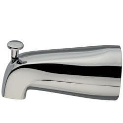 Chrome Wall Spout with Diverter