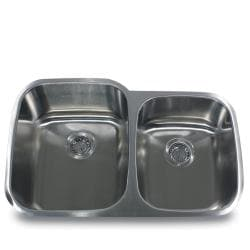Stainless Steel Offset Double Bowl Kitchen Sink