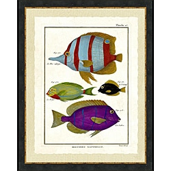 'Tropical Fish Print III' Framed Print