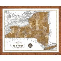 'Map of New York' Framed Print