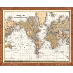 'Map of the World' Framed Print