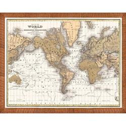 'Map of the World' Framed Print