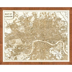'Map of London' Framed Print