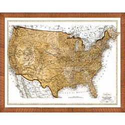 'Map of the USA' Framed Print