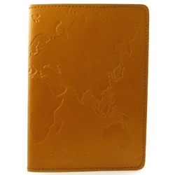 Hand-embossed Leather World Passport Cover (India)
