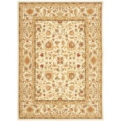 Safavieh Handmade Majesty Ivory/ Ivory New Zealand Wool Rug (5'3 x 7'6)