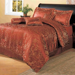 Casseria Red 8-piece Comforter Set (As Is Item)