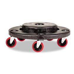 Rubbermaid Commercial Black Brute Quiet Dolly