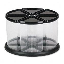 Deflect-O Six Canister Plastic Carousel Organizer