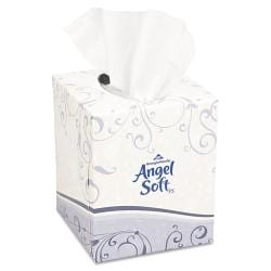 Angel Soft Premium Facial Tissue in Cube Boxes (Case of 36 Boxes)