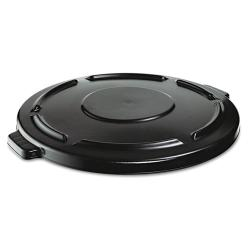 Rubbermaid Commercial Black Round Vented Brute Lid