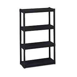 Iceberg Black Rough-n-Ready 4-shelf Open Storage System