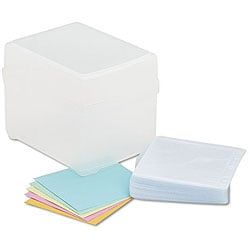 Innovera CD/ DVD 100 Disc Clear Storage Box
