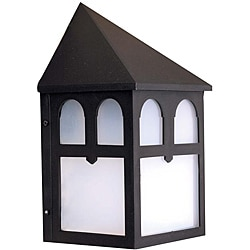 Transitional 1-light Black Outdoor Wall Light
