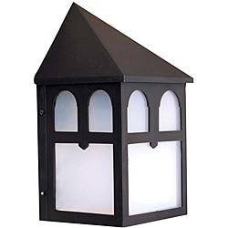 Transitional 1-light Black Outdoor Wall Light