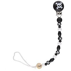Bink Link Skully Pacifier Clip