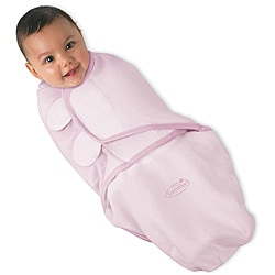 Summer Infant Pink Swaddleme Large Cotton Knit Blanket