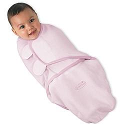Summer Infant Pink Swaddleme Large Cotton Knit Blanket