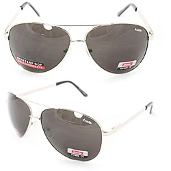 Unisex 5007 Silver Metal Aviator Sunglasses
