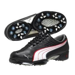 Puma Men's Cell Fusion Black/ White Golf Shoes