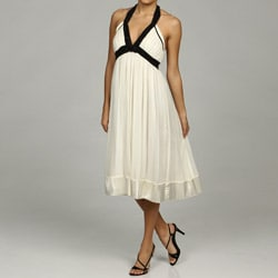 Issue New York Women's Ivory Beaded Halter Dress