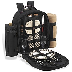 Picnic at Ascot London Backpack for Two w/ Blanket
