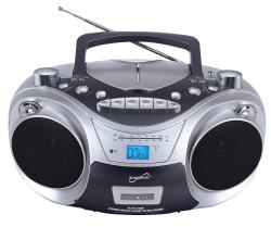 Supersonic Portable MP3/CD Player with USB/AUX Inputs