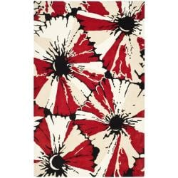 Safavieh Handmade Soho Red New Zealand Wool Rug (5' x 8')