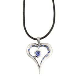 Fine Grade Pewter Romy Blue Crystal Necklace