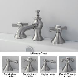 French Country Widespread Satin Nickel Bathroom Faucet
