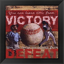 Robert Downs 'Victory - Baseball' Framed Print Art