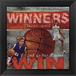 Robert Downs 'Winners - Basketball' Framed Print Art