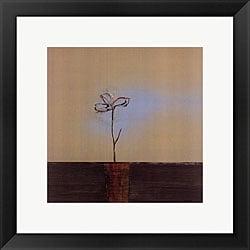 Sarah Stockstill 'Zen Blossom I' Framed Art Print
