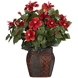 Silk 24-inch Potted Hibiscus Plant