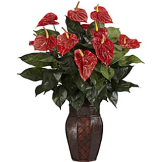 Anthurium with Vase Silk Plant 7906019