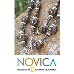 Coconut Shell 'Forest Fiesta' Beaded Necklace (Thailand)