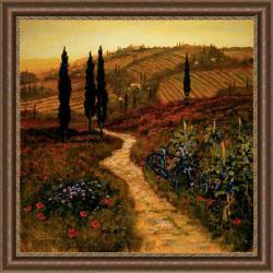 Thoms 'Down The Lane' Embellished Framed Art Print