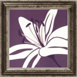 Burrowes 'Lily White' Embellished Framed Print Art