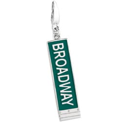 Sterling Silver and Green Enamel Broadway Charm