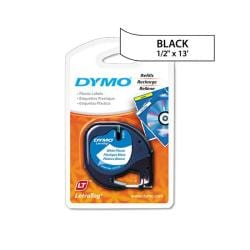 Dymo LetraTag White Plastic 0.5-in Label Tape Cassette