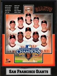 National League Champions San Francisco Giants Team 9x12-inch Plaque