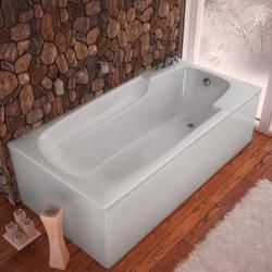 Eros White 60x32-inch Soaker Tub