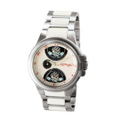 Ed Hardy Men's Speeder White Watch