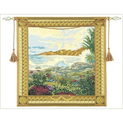Island Refuge European Tapestry Wall Hanging
