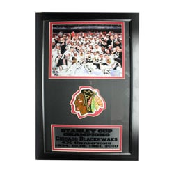 Chicago Blackhawks 2010 Stanley Cup Champions Framed Photo and Patch 7981267