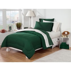 Dorm Room Superset Hunter Green / Ivory 30-pieceTwin Extra Long