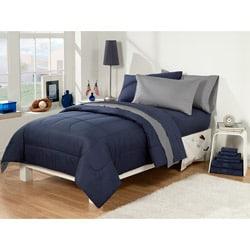 Dorm Room Superset Navy/Grey 30-piece Twin Extra Long